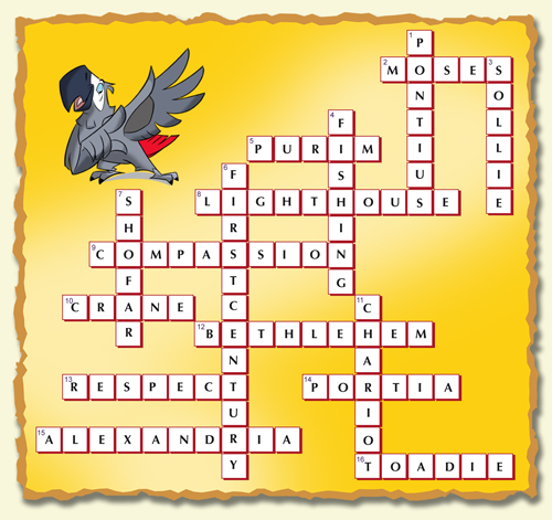 crossword puzzle 1 answers puzzles friends and heroes